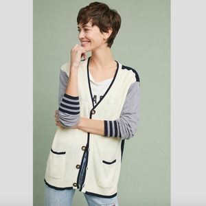 Anthropologie Colorblock Cardigan